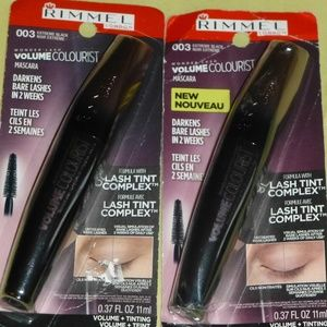 2 RIMMEL Volume Colourist Mascara Lash Tint, Black